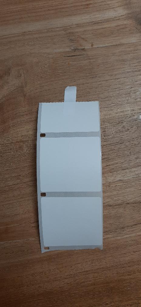 ETIKET OP ROL - VERWIJDERBAAR 57X51 MM
