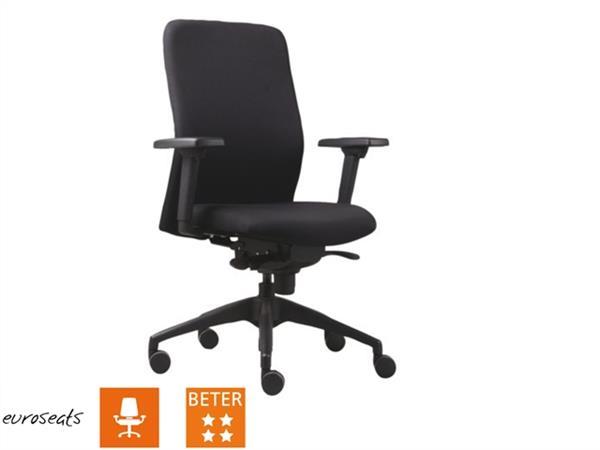 Bureaustoel Stof Zwart.Bureaustoel Vigo Ergonomisch Met Onderstel In Chroom Stof Zwart